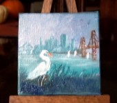 Sf & egret9 3x3 oil
