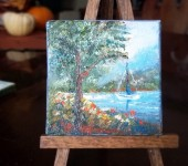 Summer at the lake 12 3x3 oil