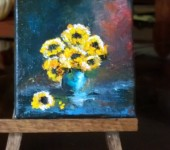 Sunflowers 14 3x3 oil