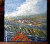 The Wine Country 6 3x3 oil