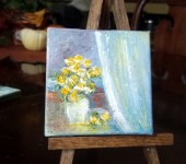 Yellow roses13 3 x 3 oil